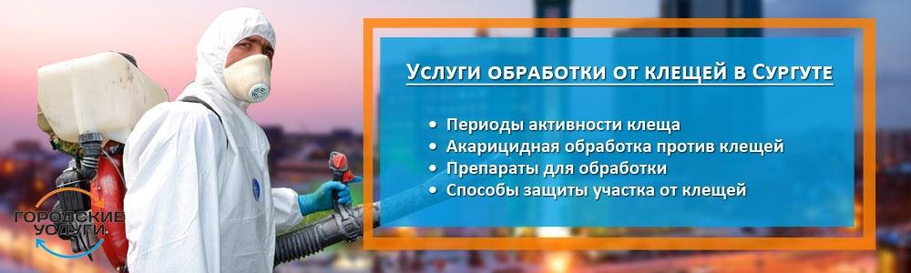 Услуги обработки от клещей в Сургуте